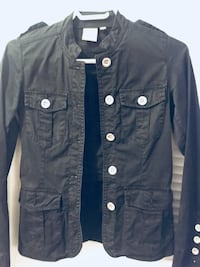 Black button-up jacket Kamloops, V2B