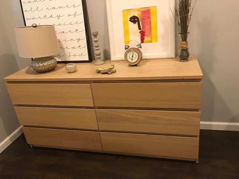 Used 6 Drawer Dresser White Stained