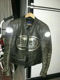 black leather zip-up jacket Delta, V4C 6C4