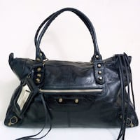 Borsa Vera Pelle Nera Made in Italy Benevento, 82100