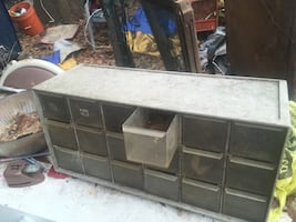 Shop Electrical Parts Cabinet. Plastic. Clean and in Excellent Cond.