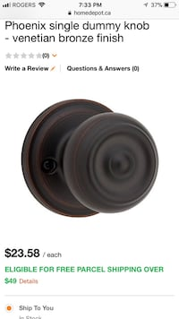 Brand new Bronze Weiser Interior Doorknobs