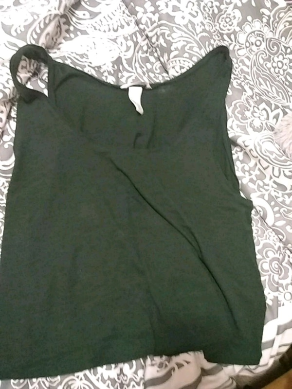 2b30f996d42 Used Olive green two finger Crop top tank for sale in Diamond Springs -  letgo