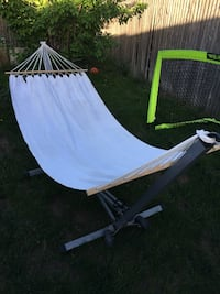 Linen Hammock and Metal Stand with Wheels Denver, 80219