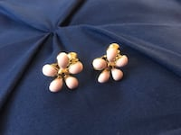 New! Clip On Earrings Very Charming Pink F design Andover, 01810