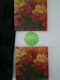 two red and green flower paintings Lansing, 48910