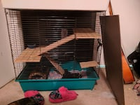 blue and teal pet cage