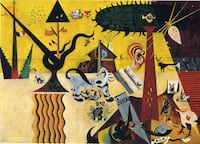 joan miro- the tilled fıeld (reproduction) 6548 km