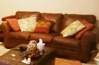 $600 Real Leather Couch with Built-in Mattress Charlotte, 28216