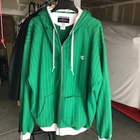 Green and White XL Hooded Zip Up Jacket San Jose, 95133