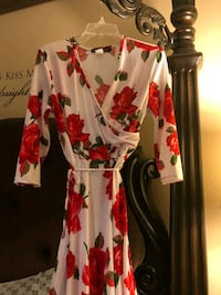 Womens dress with red rose pattern Bethlehem, 18018