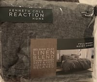 Kenneth Cole Mineral Yarn-Dyed Duvet Cover with Orange Throw Salt Lake City, 84102