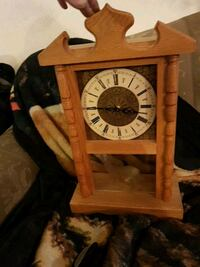 brown wooden framed analog bracket clock Kamloops, V2B 3C9