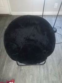 black and gray moon chair