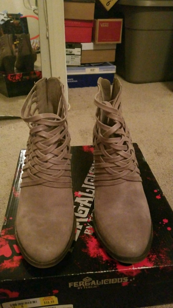 Fergalicious Weever Ankle Boots Size 10