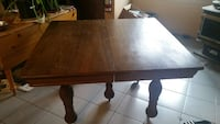 square brown hard wooden  table Milton, L9T