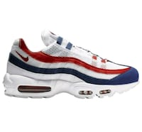Nike Mens Air Max 95 Shoes White Gym Red Deep Royal Blue Arlington, 22204