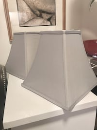 Two Light Gray Imperial Style Lampshades San Francisco, 94110