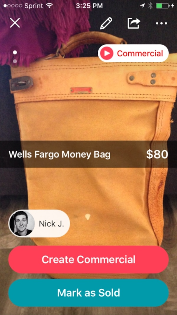 Wells Fargo Deposit bag