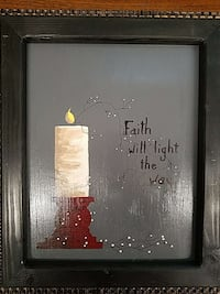 black wooden frame with faith will light the way Gatesville, 76528