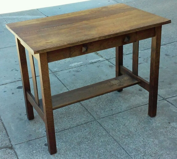 Used 18861 Vintage Oak 3 Wide Library Table For Sale In Oakland