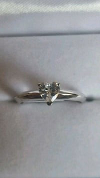 A Heart Shaped White Crystal Ring Dugald, R0E 0K0