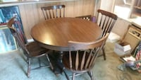 DOUBLE PEDESTAL DINETTE TABLE WITH 4 CHAIRS Virginia Beach, 23462