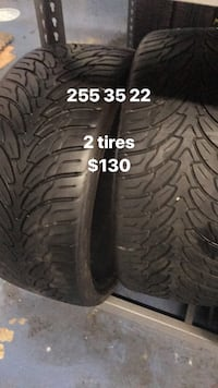 255 35 22 only 2 tires  Vaughan, L4L 3T4