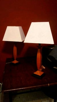 white and brown table lamp Laredo, 78040