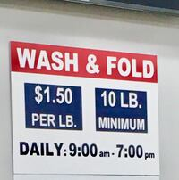 Complete Laundry Wash  & Fold  Services  10LB minimum  $1.50 PER LB.  Pick up & Drop off for an extra $5 (Serving Stamford and Darien Only)  Thank you! Stamford, 06906