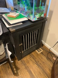 Dog crate end table Burke