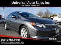 2012 Honda Civic LX 4dr Sedan 5A salem, 97301