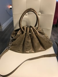 women's brown leather hobo bag Welland, L3C