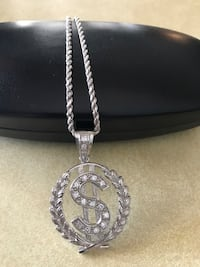 Money sign Men's sterling silver necklace