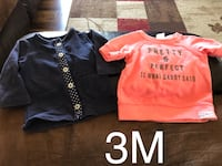 two toddler's orange and black shirts Lily, 40740