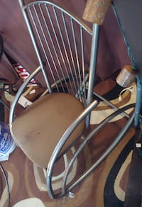 Solid Metal Rocking Chair