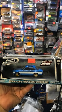 blue and black die-cast car toy Whittier, 90602