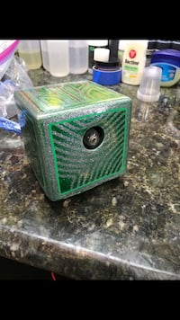 green plastic container