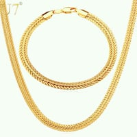 18k Gold Plated Chain Necklace Set Peekskill, 10566