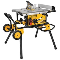 DEWALT 10-in 15 Amp Job Site Table Saw with Rolling Stand (DWE7491RS) Toronto, M8W 3Y3