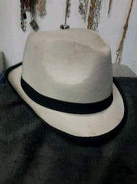 white and black leather bucket hat Edmonton, T5A 1C2