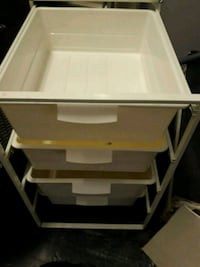 Storage bins, clean able to hold various items.
