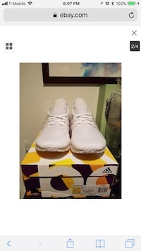 pair of white Adidas Ultra Boost sneakers with box screenshot Las Vegas, 89108