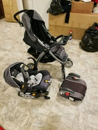 baby's black and gray travel system Laurel, 20708