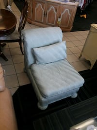 Dusty periwinkle textured padded glider chair Fort Lauderdale, 33316