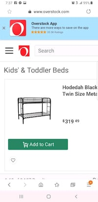 bunk bed with mattresses  Fairfax Station, 22039