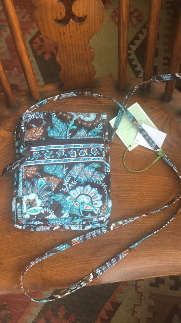 318bfa119 Used Brown, blue, and white Vera Bradley crossbody bag for sale in  Williston - letgo