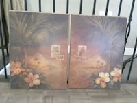 two brown wooden framed painting of flowers Chilliwack, V2R 4A5