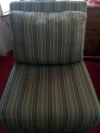 $40- A BROWN AND GREEN STRIPED SOFA , AND 3 CHAIRS Midlothian