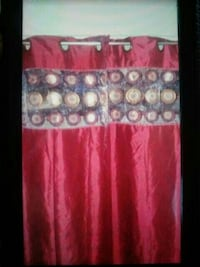 red, gray and beige window curtain Tampa, 33605